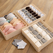 Load image into Gallery viewer, Dormitory closet organizer for socks home separated underwear storage box 7 grids bra organizer foldable drawer organizer