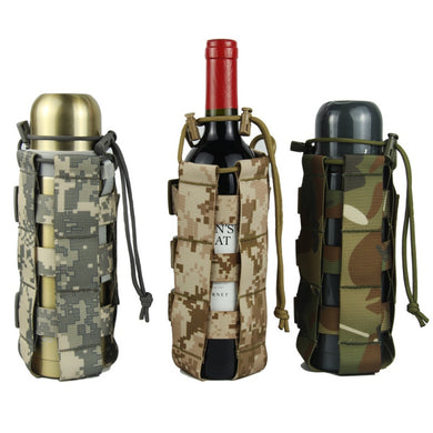 Tactical Molle Water Bottle Pouch Nylon Military Canteen Cover Holster Outdoor Travel Kettle Bag