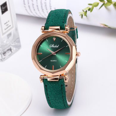 Couture Women Leather Band Watch