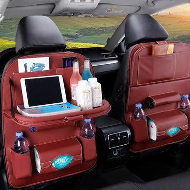 Back Seat Organizer Foldable Table Tray Travel Storage Bag Foldable Dining Table Car Seat Storage Bag