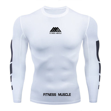 new 2020 men Compression T-shirt Quick-drying costume fitness muscle T Shirt Long Sleeve Fitness Tights Compression Tops t shirt