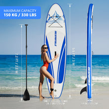 Load image into Gallery viewer, 305x76.2x15cm Large Surfboard Premium Inflatable Paddle Board Stand Up Paddle Board Bonus Manual Pump Ankle Leash