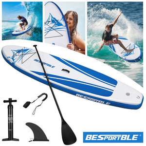 305x76.2x15cm Large Surfboard Premium Inflatable Paddle Board Stand Up Paddle Board Bonus Manual Pump Ankle Leash