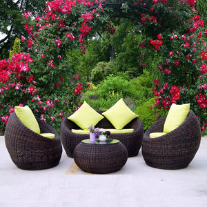 Outdoor Rattan Sofa Combination Courtyard Outdoor Balcony Leisure Rattan Chair Sofa Outdoor Sofa