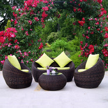 Load image into Gallery viewer, Outdoor Rattan Sofa Combination Courtyard Outdoor Balcony Leisure Rattan Chair Sofa Outdoor Sofa
