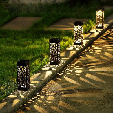 1pcs Solar Garden Pathway Lights Sensor Home Lantern Decoration Landscape Light Waterproof Wireless Durable Path Way Street IP44