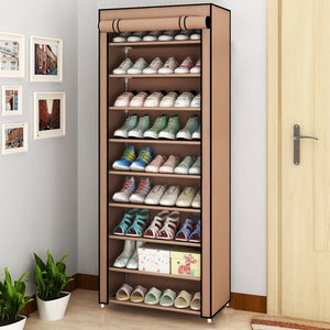 Dustproof Shoes Rack Non-Woven Fabric Shoe Stands Space-saving Shoe Organizer Closet Home Shoes Storage Holders Shelf Cabinet