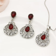 Load image into Gallery viewer, Turkish Jewelry Women Crystal Necklace Earrings Set Wedding Jewelry