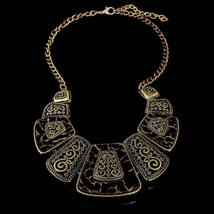 Designer Necklaces & Pendants Vintage Gold/Silver Geometric Choker Necklace For Women Retro Party Jewelry