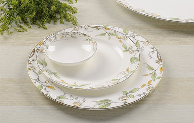 3pcs/lot, 10 & 8 & 4 inch, bone china dinner plate set, white porcelain dishes, ceramic sushi plate, dishes plates decoration