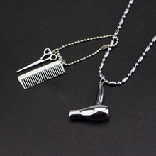 Load image into Gallery viewer, Trendy Barber Shop Pole 3D Barber Pole Chain Pendant