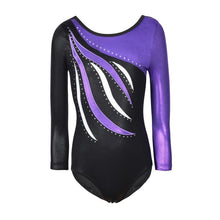 Load image into Gallery viewer, Kids Dance Wear Girls Long Sleeves Leotards Acrobatics