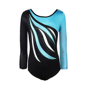 Kids Dance Wear Girls Long Sleeves Leotards Acrobatics