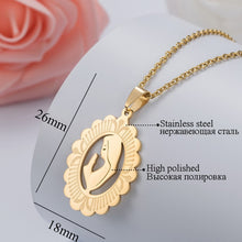 Load image into Gallery viewer, HOBBORN Trendy Women Men Religious Necklace Stainless