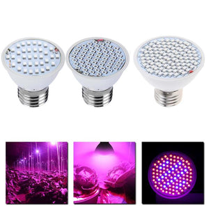 LED Full Spectrum Grow Light E27 AC85-265V Full Spectrum Plant Lamp Bulb for Plants Vegs Greenhouse Hydroponics System