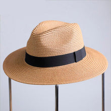 Load image into Gallery viewer, 2020 Summer sun hat casual vacation Cuban straw hat