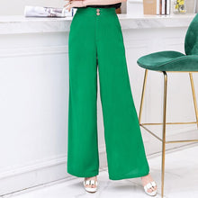 Load image into Gallery viewer, Cotton Linen Soft Wide Trousers High Waist Plus Size XL-5XL