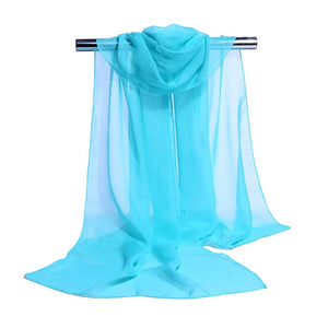 19 Colors Chiffon Scarf  Women Summer Silk Scarves  Chiffon