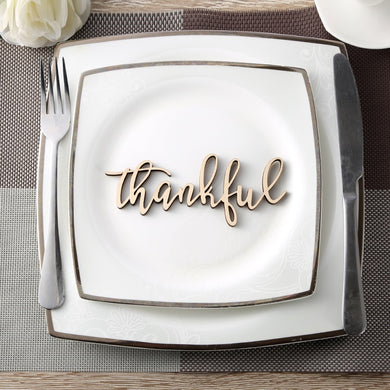 Thankful Place Cards,Thanksgiving Name Plates,Thanful Wooden Word, Holiday Decor,Thanksgiving Place settings, Wood Thankful Sign