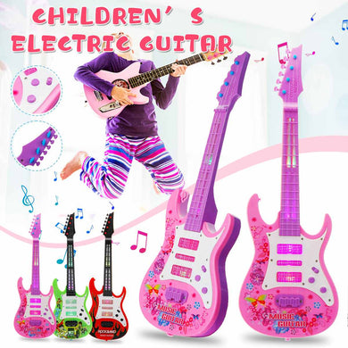 Vitaly Rocker 4 Strings Musical Instruments Educational Music Electric Guitar Kids