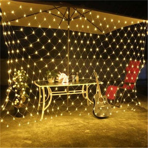 3X2M or 1.5X1.5M Net Mesh String Light Garland Twinkle Star Outdoor