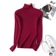 Load image into Gallery viewer, Korean Style Winter autumn turtleneck  Sweater Pullovers