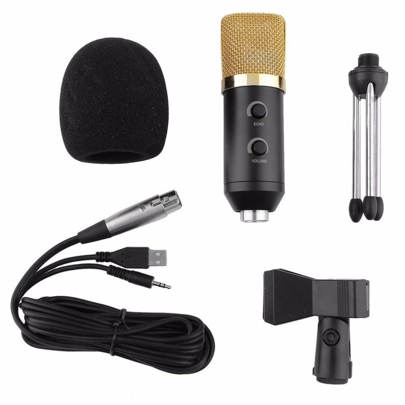 5Pc Condenser Sound Recording Mic Independent Audio Card / Tripod - dBHeard Enterprise Conglomerate Llc