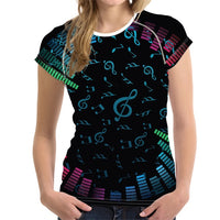 Stylish Music Design Woman Top Tee - dBHeard Enterprise Conglomerate Llc