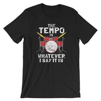 The Tempo Drummer Music Tshirt - dBHeard Enterprise Conglomerate Llc