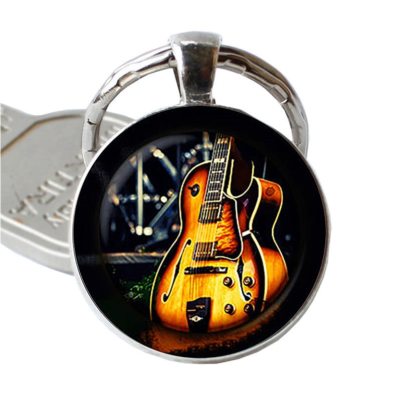 Guitar Music Glass Pendant - dBHeard Enterprise Conglomerate Llc