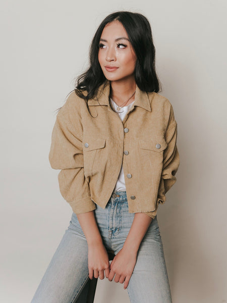 Layover Corduroy Cropped Jacket