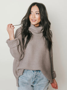 Fine Line Grey Turtleneck