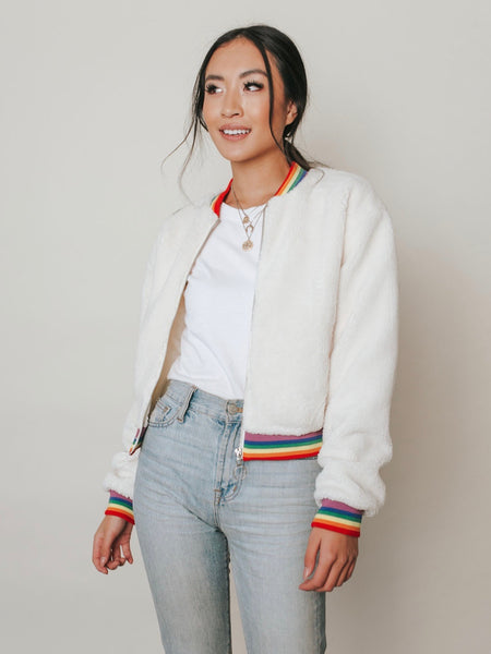 Over The Rainbow Bomber Jacket