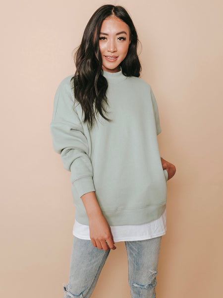 Giselle Mock Neck Sweatshirt