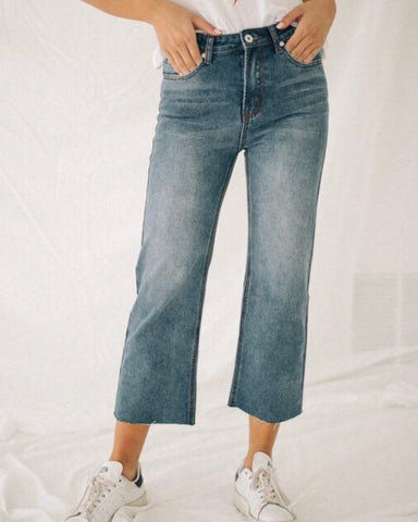 Kourtnie Cropped Wide Leg Denim