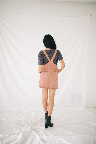 Dylan Overall Dress // Clay