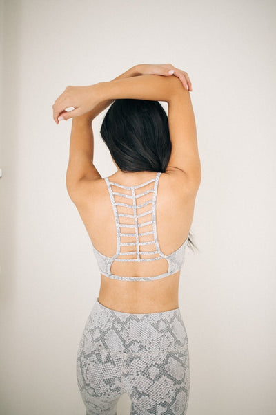 Always Loungin Snake Skin Sports Bra