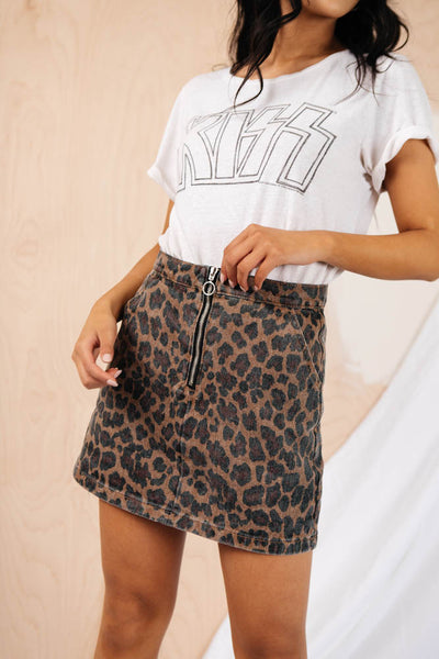 Wild Nights Leopard Skirt