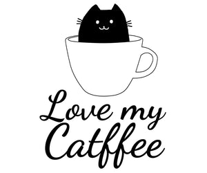Cat Coffee cup shirt, a cat lover gift for cat mom