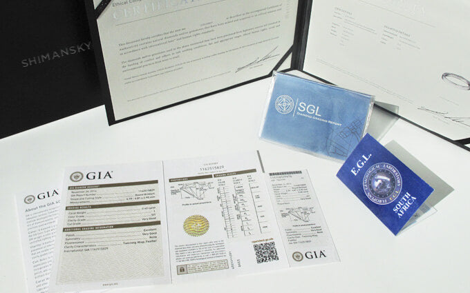 GIA EGL and SGL diamond grading reports