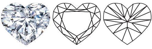 heart shape diamond by Shimansky jewelers