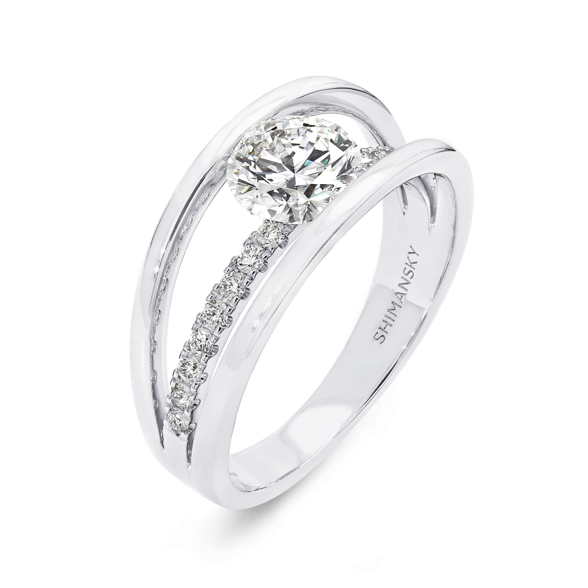 1.22 Carat Evolym Micro Set Diamond Engagement Ring in Platinum 3D View