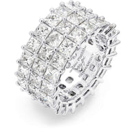 12.69 Carat My Girl Triple Row Eternity Diamond Ring in Platinum 3D View