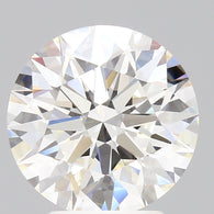 3.12 Carat IVS1 Round Brilliant Cut Loose Diamond GIA Certified Front View
