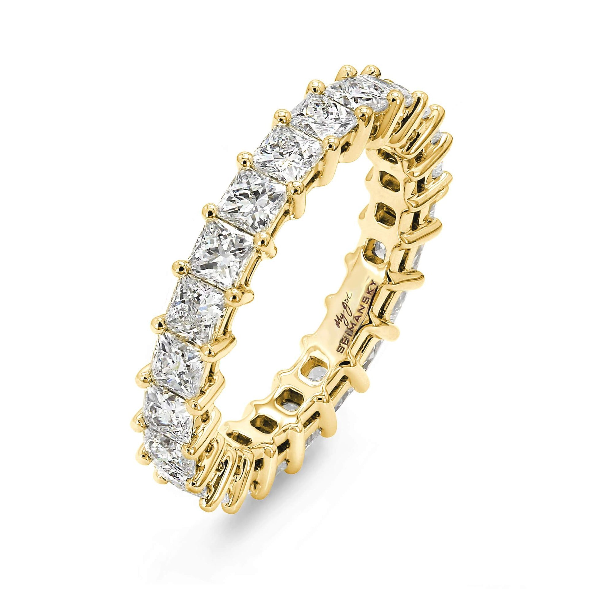 3.24 Carat My Girl Eternity Diamond Ring in 18K Yellow Gold 3D View