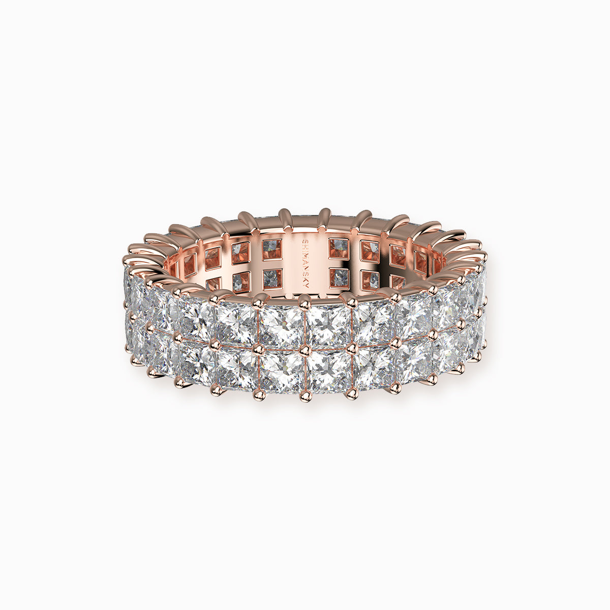 Shimansky my girl double row full eternity ring 18k pink gold