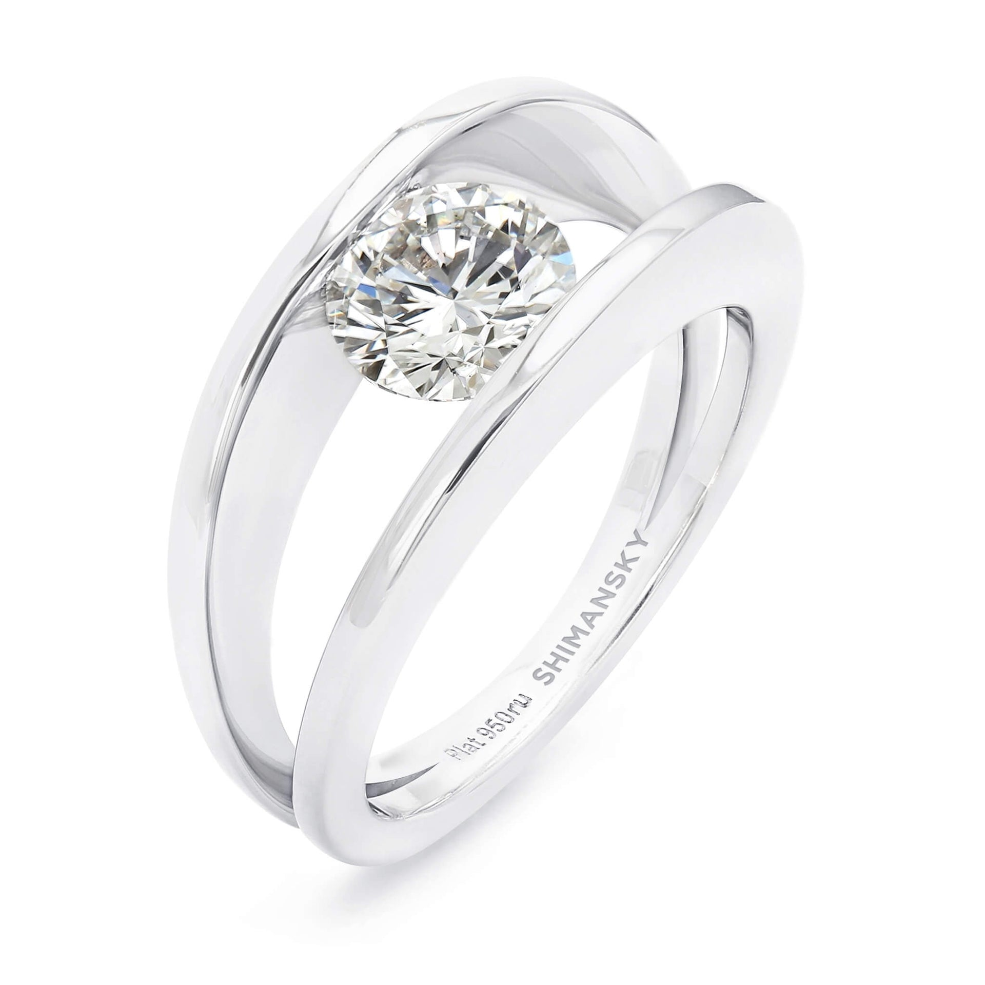 The Iconic 1ct Millennium Diamond Ring Crafted in Platinum 3D View