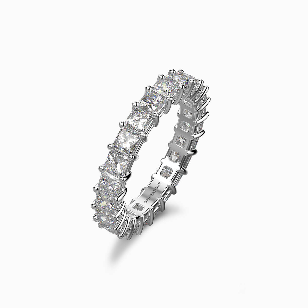 My Girl Eternity Ring in Platinum Set With Diamonds