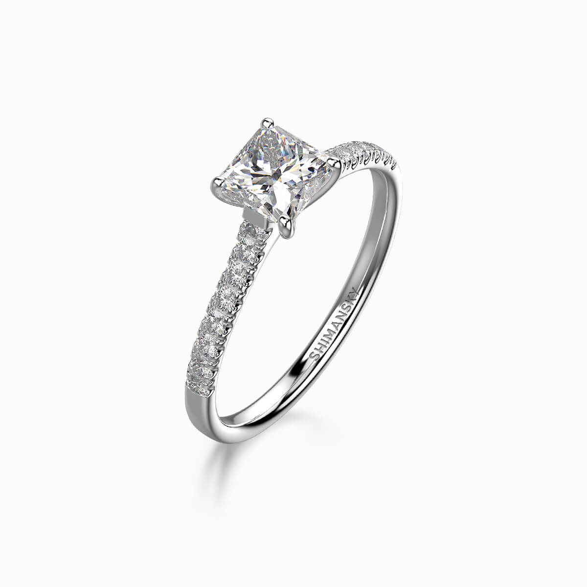 My Girl Micro Set Engagement Ring Crafted in Platinum