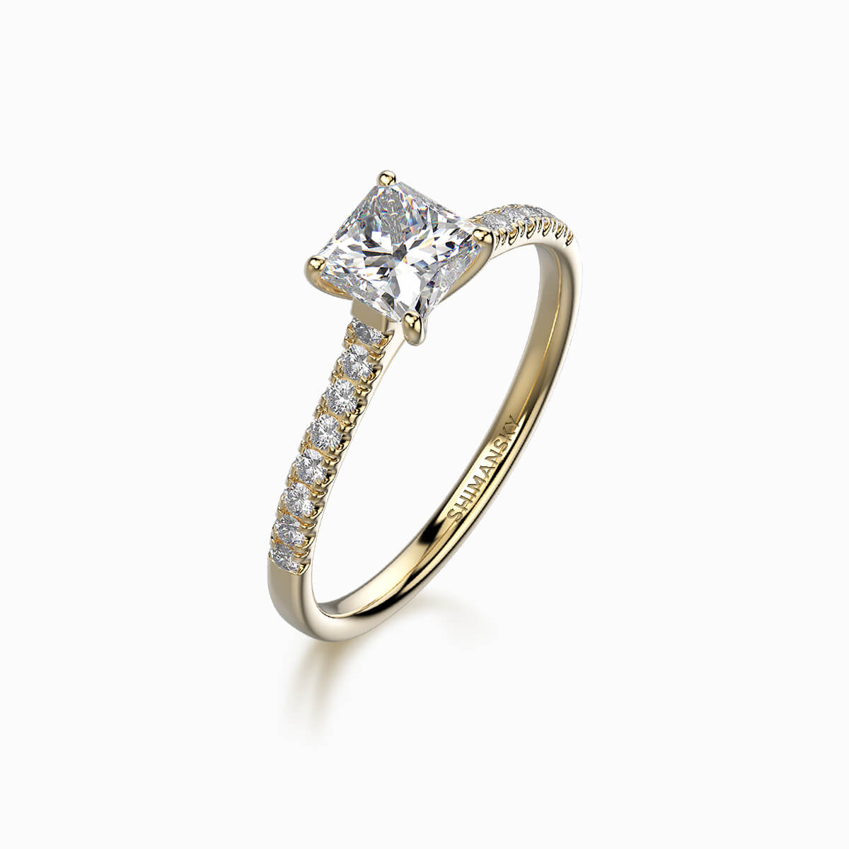 My Girl Micro Set Ring in 18K Yellow Gold Set With Diamonds